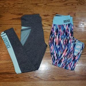 Justice Active Wear Leggings 14/16